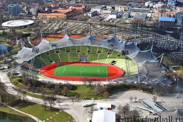 Вид сверху на Олимпийский стадион.
