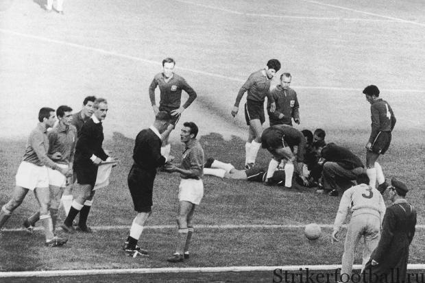 Побоище в Сантьяго между сборными Италии и Чили 1962 г.