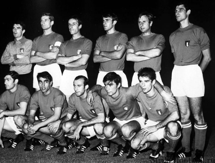 Сборная Италии образца 1968 г. была талантливой, но ей потребовалась удача, чтобы пройти в финал.
